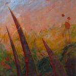 Marion Mencke eigen werk grassen acryl