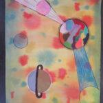 Abstract schilderen als de kunstenaar Wassily Kandinsky