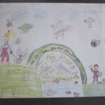Tekening bij de lessen voor de Kinderboekenweek