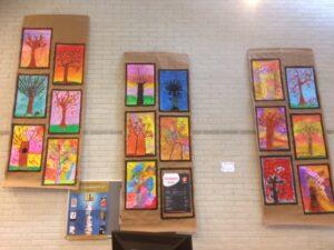 Kinderkunst atelier Marion Mencke in de bibliotheek van Sleen