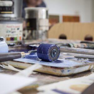 Werken met drukinkt - workshop bij Atelier Marion Mencke