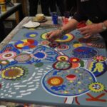 Circle painting workshop bij Atelier Marion Mencke