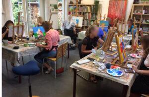 Vriendinnenfeestje bij Atelier Marion Mencke