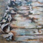 Huid van een berk acryl