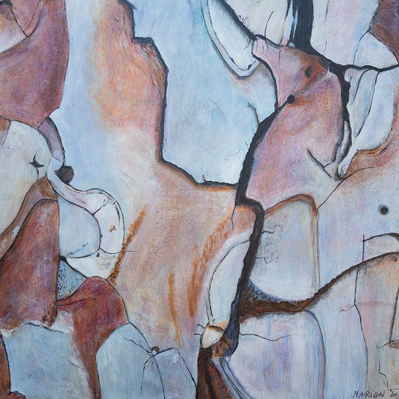 Huid van een naaldboom acryl